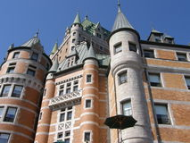 Le Chateau Frontenac à Quebec City Images libres de droits
