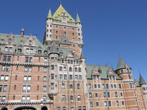 Le Chateau Frontenac à Quebec City Photographie stock libre de droits
