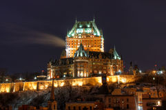 Le Chateau Frontenac Royalty Free Stock Image