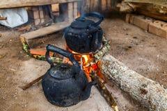 Le chauffe-eau de bouilloire Photos stock