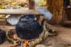 Le chauffe-eau de bouilloire Photo stock