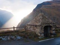 Le chazelet, sepulcro del la, Altos Alpes, FRANCIA imagen de archivo libre de regalías