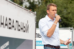 Le Chef d'opposition Alexei Navalny Photo libre de droits