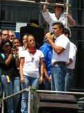 Le Chef d'opposition vénézuélien Leopoldo Lopez Image libre de droits