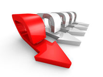 Le Chef en avant Red Arrow Of Team Group Flow de manière Image stock