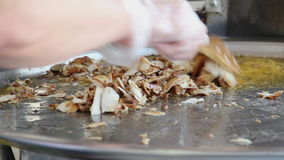 Le chef fait Shawarma clips vidéos