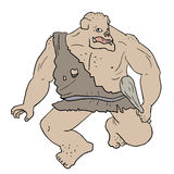 le chef heureux de crabots mignons effrontés de personnage de dessin animé de fond a isolé le blanc de sourire Photo libre de droits