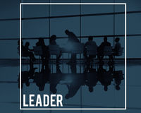 Le Chef Leadership Concept de réunion de grande entreprise Photos libres de droits
