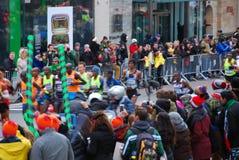 Le Chef Pack de 2014 de NYC hommes de marathon Images libres de droits