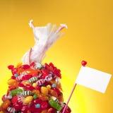 Le chef plus de guérissent dans la sucrerie et l'amour Photos stock