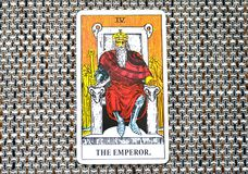 Le Chef Ruler King Boss de puissance de carte de tarot d'empereur photographie stock libre de droits