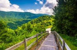 Le chemin à la montagne chauve Ridge scénique donnent sur le long d'I-26 dans Te Image libre de droits