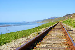 Le chemin de fer. Photo libre de droits