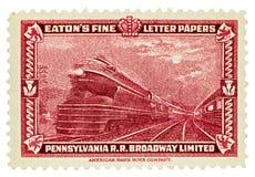 Le chemin de fer Broadway de la Pennsylvanie a limité Images libres de droits