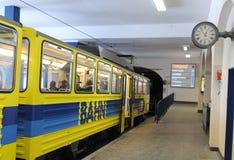 Le chemin de fer de support de Wendelstein - station supérieure Photos stock