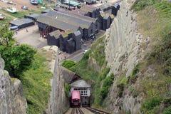 Le chemin de fer le plus escarpé des mondes image libre de droits