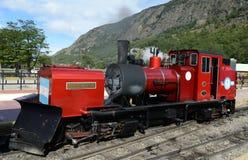Le chemin de fer le plus le plus au sud dans le monde au bord de la terre Photo stock