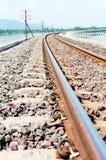 Le chemin de fer sur le réservoir Image stock