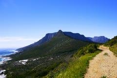 Le chemin de montagne moins a voyagé Photos stock