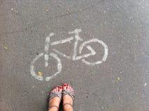 Le chemin de vélo image stock