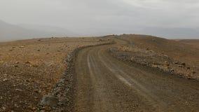 Le chemin difficile au glacier, Islande image stock