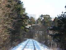 Le chemin du chemin de fer Les passages ferroviaires par de beaux paysages D?tails et plan rapproch? photographie stock libre de droits