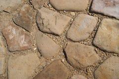 Le chemin est pavé avec beaucoup de pierres Photographie stock libre de droits