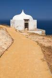Le chemin près d'Ermida DA Memoria ou la chapelle de mémoire de Nossa Senhora font Photos stock