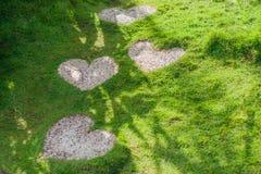 Le chemin sous forme de coeur Concept d'amour Image stock