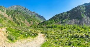 Le chemin vers la gorge de Zarmas photo stock