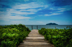Le chemin vers la mer Photo stock