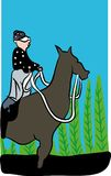 Le cheval et le jockey illustration stock