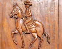 le cheval font à partir du bois pour le bacground image stock