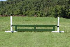 Le cheval sautent le cavalier de porte Photo stock