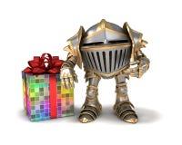 Le chevalier fait le présent Photos stock