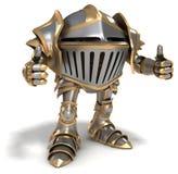 Le chevalier montre des pouces  Photos stock