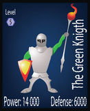 Le chevalier vert Players Card Illustration Photos stock