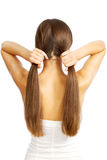 Le cheveu des femmes photo libre de droits