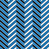 Le chevron abstrait bleu et blanc noir a barré le modèle sans couture géométrique, vecteur Photo libre de droits