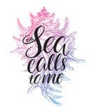 Le chiamate del mare a me royalty illustrazione gratis