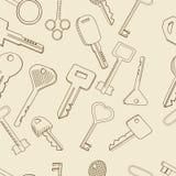 Le chiavi hanno messo la retro illustrazione senza cuciture di vettore Immagine Stock Libera da Diritti