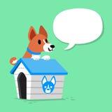 Le chien et le chenil de basenji de personnage de dessin animé avec la parole bouillonnent Illustration de Vecteur