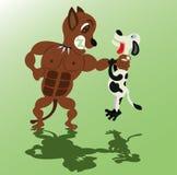 Le chien fâché saisit l'adversaire illustration de vecteur