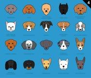Le chien fait face à la bande dessinée 4 d'icône de course illustration stock