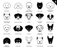 Le chien fait face à la bande dessinée monochrome 4 d'icône de course illustration de vecteur