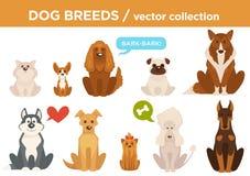 Le chien multiplie des animaux de bande dessinée de vecteur Illustration Stock