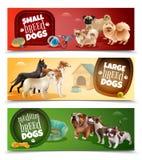 Le chien multiplie l'ensemble de bannière illustration libre de droits