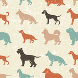 Le chien multiplie le modèle sans couture Image stock