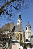 Le chiese gemellate di Kitzbuhel Fotografia Stock Libera da Diritti