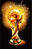Le chiffre coloré polygonal du football 2018 de fond de tasse de championnat du monde du football illustration stock